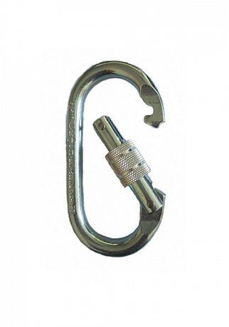 Карабін овал сталевий з різьбовою муфтою /S-507/ Карабин стальной