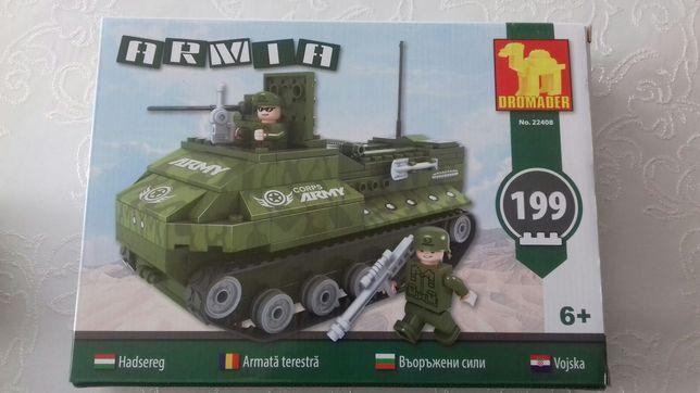 Klocki Dromader czołg 199 elementów stan idealny