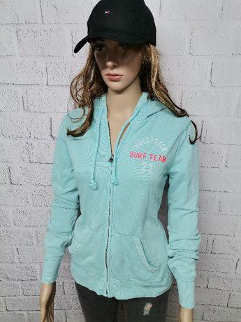 Bluza HOLLISTER damska rozpinana z kapturem turkus NOWY MODEL M 38!