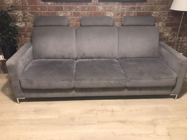 Sofa 3 osobowa szara gratis pufa