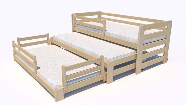 Sosnowe łóżeczko dla TRÓJKI! Fox Premium - nowość dla dziecka!