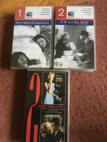 Coleção filmes Alfred Hitchcock - cassete VHS
