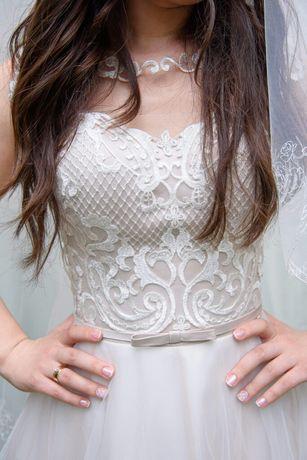 Простое, но стильное свадебное платье и много Подарков