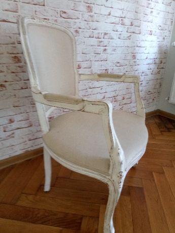 Biały Fotel / krzesło