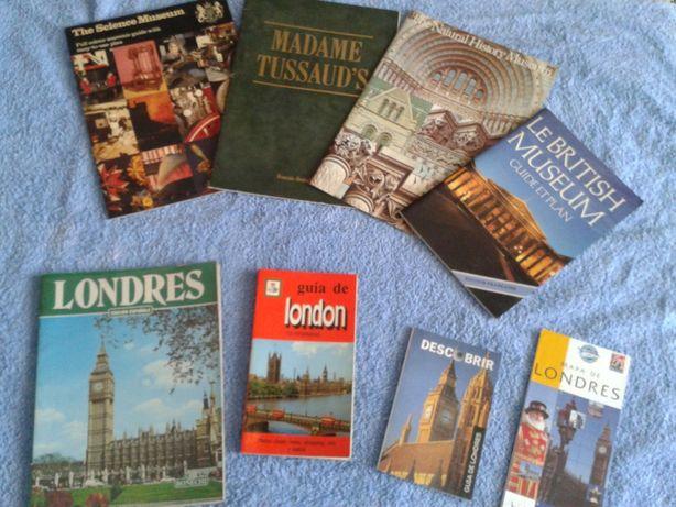 LOTE 7 livros guias turísticos de Londres, E BRINDE