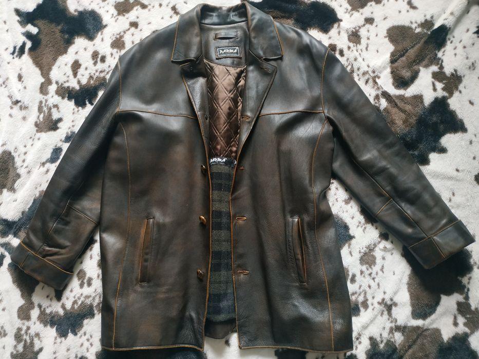 Шкіряна куртка/коричневого кольору Львов - изображение 1