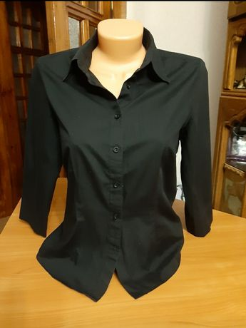 Рубашка черная с коротким рукавом