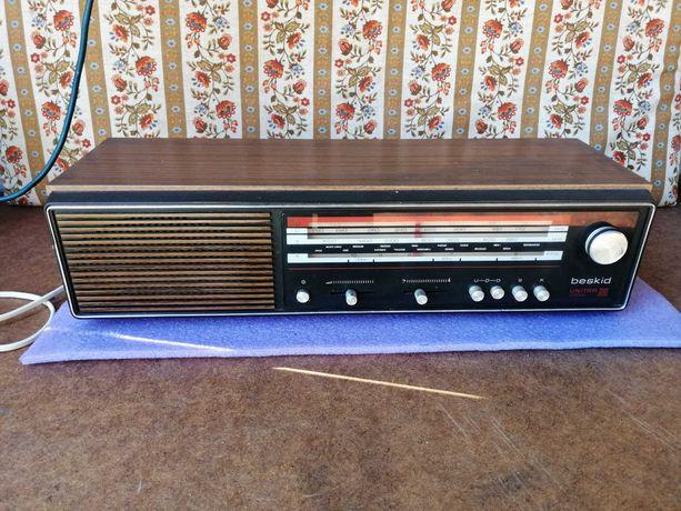 Radio Unitra antyczne drewniane