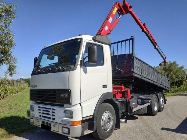 Camião Volvo FH12 basculante Grua 26 Ton