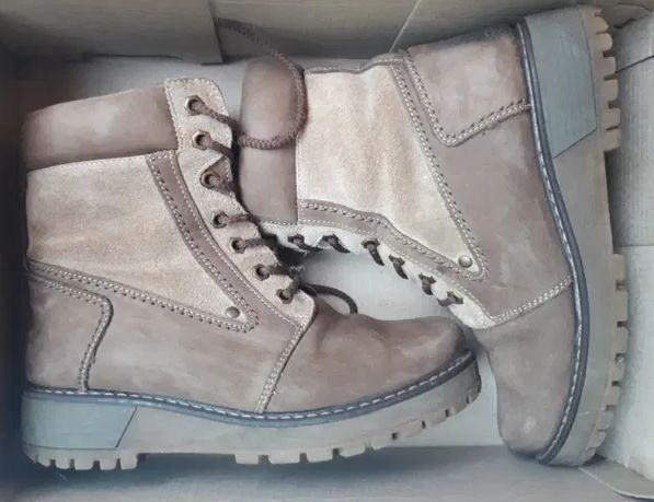 Замшевые зимние ботинки детские, 36-37 размер