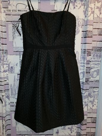 Платье чёрное коктейльное Vila.
