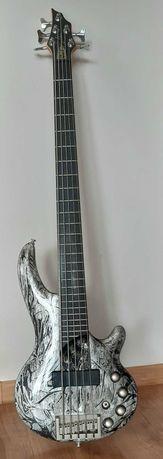 CORT Curbow 5 Gitara basowa, super stan, Bartolini, aktywny preamp