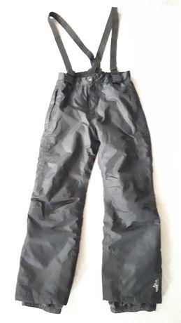 Spodnie narciarskie czarne 146/152 Crivit