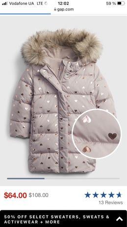 Gap куртка, пуховик,пальто ,гап геп