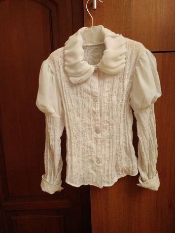 Красивая блузка для девочки 7-10 лет