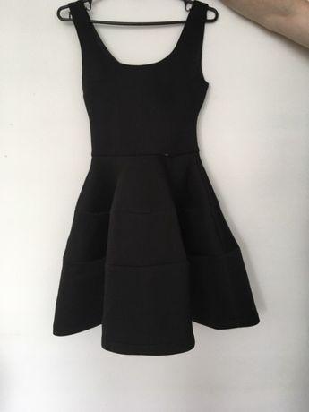 sukienka czarna piankowa EMO xs