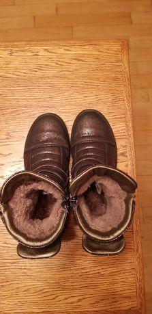 Ботинки детские зимние, кожаные