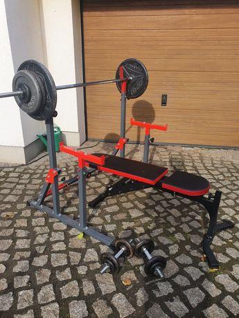 Siłownia domowa 107.5kg obciążenia żeliwnego marbo sport