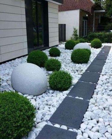 Grys Biały MARMUROWY ogrodowy 20-60 taras Plac zabaw elewace drogi
