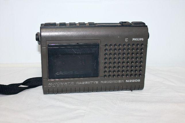 Rádio Philips N2208, gravador vintage