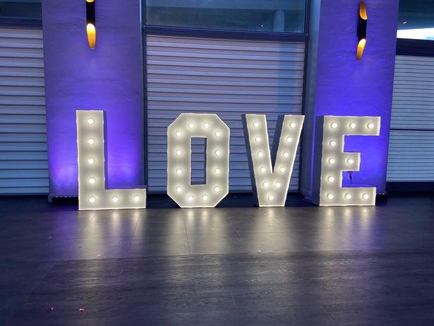 Napis LOVE na wesele, poprawiny, rocznice