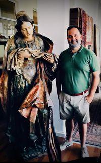 Santa Verónica  Extraordinária  escultura em madeira de grandes dimens