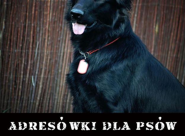 Wybijana adresówka Identyfikator dla psa - nieśmiertelnik - TRWAŁA!