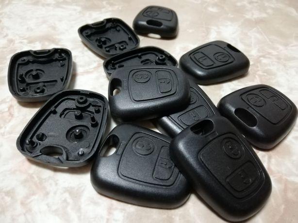 Capa botões de chave Peugeot, Toyota, Citroen, para chave original