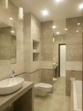 Łazienki, glazura, kompleksowe wykończenie wnętrz, remont