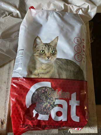 Корм для котів Golden Cat 3 кг(9 мішків)
