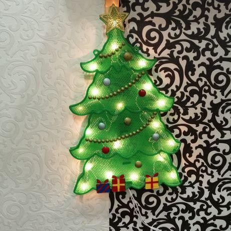 Декоративное освещение Ёлка 3Д силуэт светящаяся гирлянда Англия