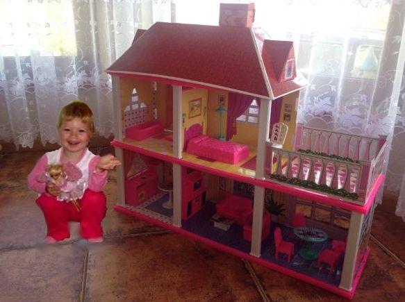 Domek dla Lalek Barbie Dom Lalka Kuchnia Sklep TV Taras i Meble Dzieci