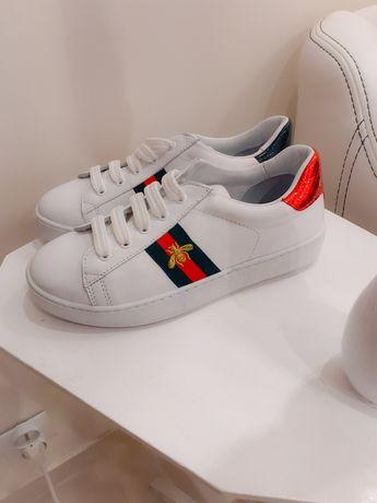 Białe buty trampki gucci rozmiar 33