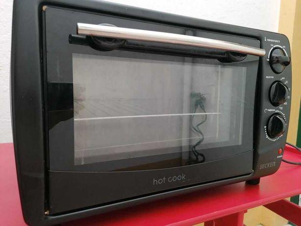 Forno eléctrico com grill, espeto rotativo e temporizador
