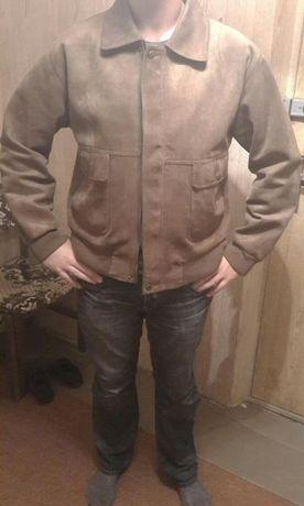 Продам куртку мужскую с дубленой кожи