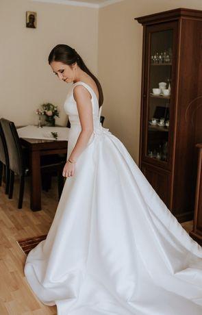 Suknia ślubna Pronovias Trisa 36 piękna klasyka