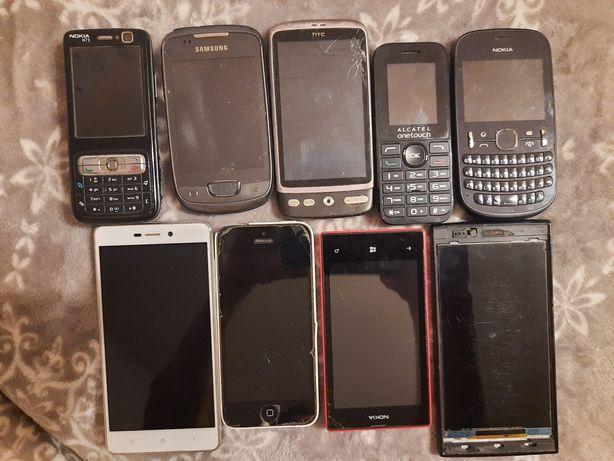 Telefony Uszkodzone 9 sztuk Xiaomi Samsung Inne