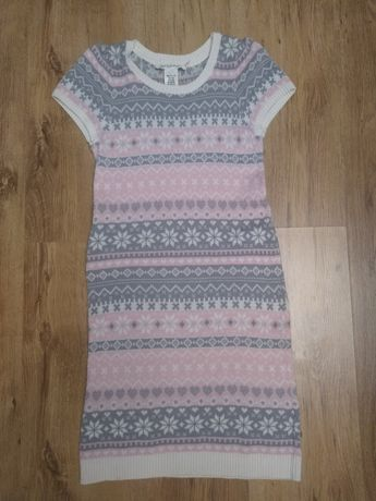 Sukienka H&M 134/140 skandynawski wzór
