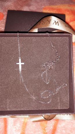 Крестик с цепочкой серебро с золотым напылением