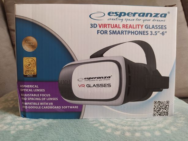 "Okulary 3D VR dla smartfonów 3,5""-6"" Esperanza"