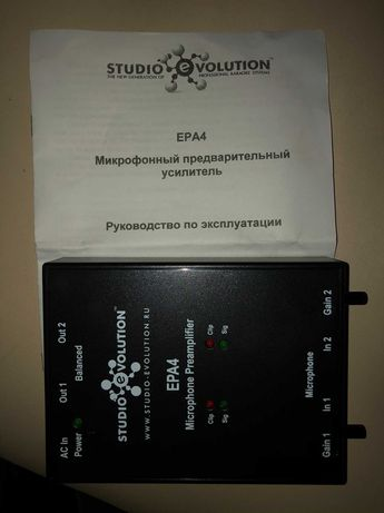 Микрофонный предварительный усилитель EVOLUTION EPA4