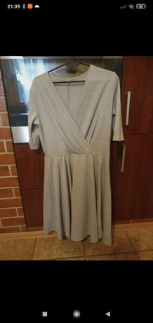 Sukienka szara długa