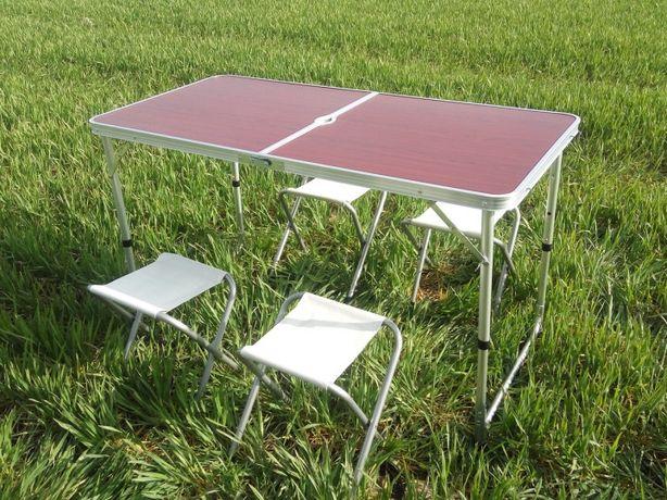 Складной столик чемодан для пикника с 4мя стульями Туристический Набор