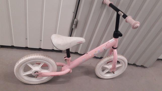 Rowerek biegowy różowy koła 12