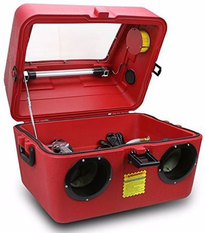 Tanque cabine a ar comprimido de decapgem de peças 60 lts portátil