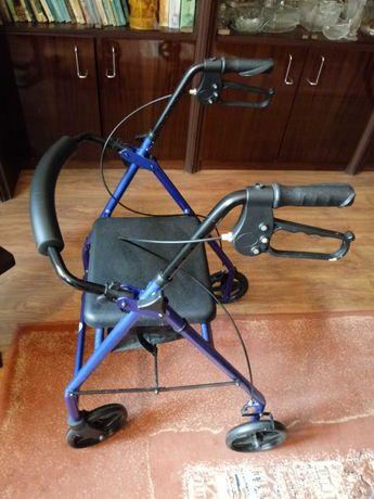 Chodzik dla osoby niepełnosprawnej z siedziskiem