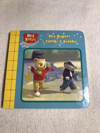 Książka z serii Miś Rupert, twarda okładka i kartki