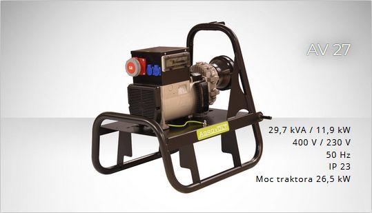 FOGO AGROVOLT AV27 400/230volt Agregat prądotwórczy ROLLNICZY F.VAT