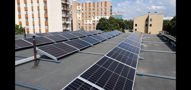 Солнечная электростанция. Монтаж
