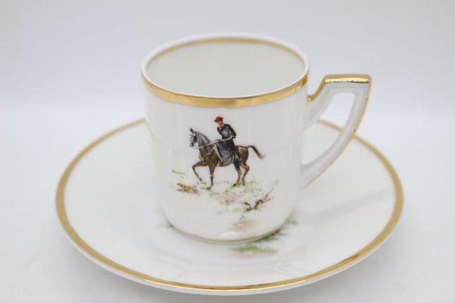 Antiga Chávena de Café Vista Alegre Dama a Cavalo 1947